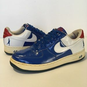Nike Air Force 1 Sheed Low Sz 10.5 Red/White/Blue